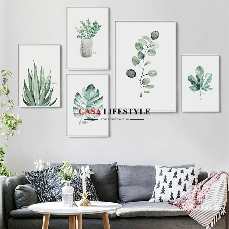 Green Plants Wall Art Poster